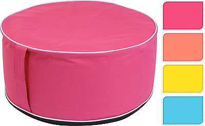Inflatable Pouffe Footstool Inflatable Seat Stool Table Choice of 4 Colours