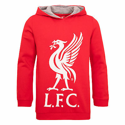 Liverpool FC  LFC Boys Red Liverbird Hoody Official
