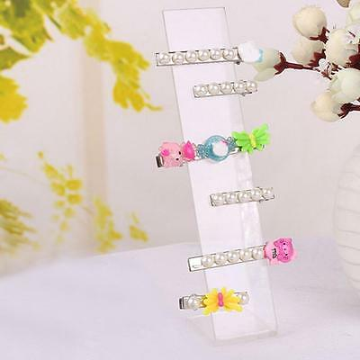 Acrylic Hair Clip Jewelry Hairpin Display Show Stand Holder Organiser Clear WT