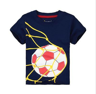 Infant Toddler Baby Kid Boy Short sleeve Cotton T-shirt Tee Tops Clothing