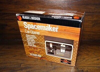 15097 NOS Vtg Black & Decker Spacemaker Electric Can Opener New in Box Unopened