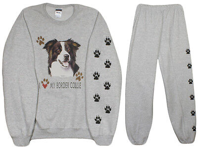 BORDER COLLIE sweat shirt and sweat pants  S, M, L, XL