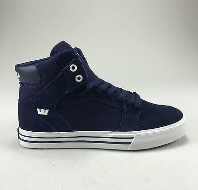 Supra Vaider Shoes Trainers Blue Night/White Brand new in box in Size UK 8,10