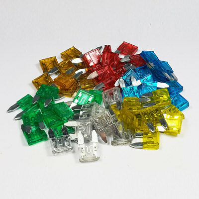 60 Piece Mini Blade Fuse Assorted Kit Mixed Car Van Bike Amp Amps A