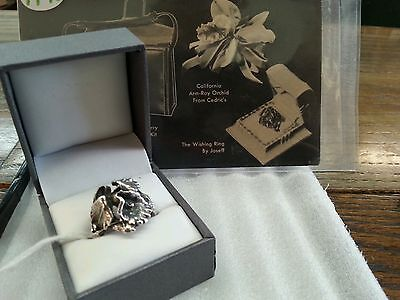 Rare 1945 Joseff of Hollywood orchid wishing ring