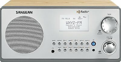 Sangean HDR-18 HD Radio/FM-Stereo/AM Wooden Cabinet Table Top Radio New
