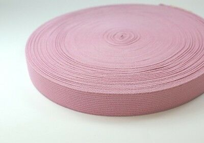 20mm breites Gummiband aus Polyester - 25m Rolle - rosa
