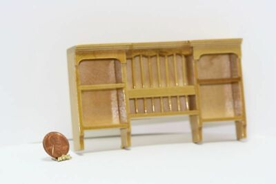 Dollhouse Miniature 1:12 Scale Oak Wood Plate Rack & Wall Shelf