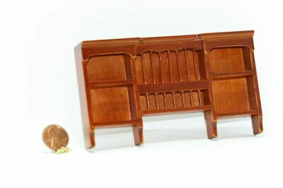 Dollhouse Miniature 1:12 Scale Cherry Wood Plate Rack Wall Shelf