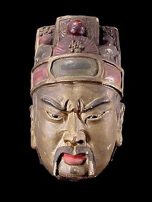 Terra Cotta Warrior Qing Dynasty Emperor Or Generals Head Clay Tomb Burial Relic