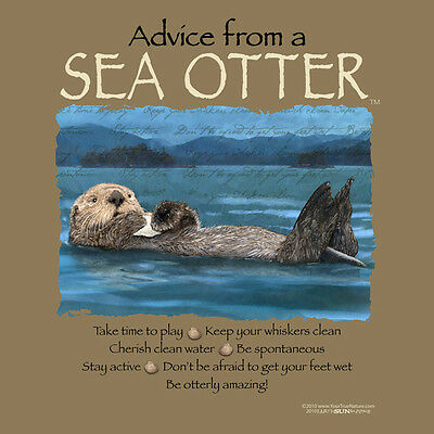 Advice From A Sea Otter Xlarge  Adult T-Shirt