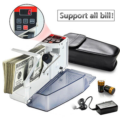 Handheld Money Counter Portable Bill Counting Machine Cash Banknote Currency New