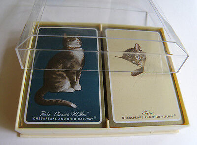50's Chesapeake and Ohio Railway Playing Cards - Original Unused condition 2Deck