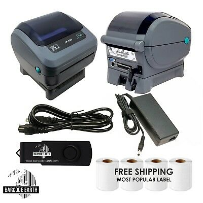 Zebra ZP450 Direct Thermal Label Barcode Printer W/ USB & 1000 Shipping Labels