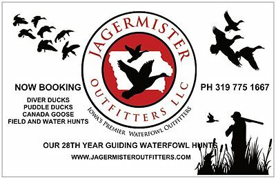 Iowa Guided Hunt-Canada Goose-Fully Guided-Jagermister Outfitters Amana Iowa