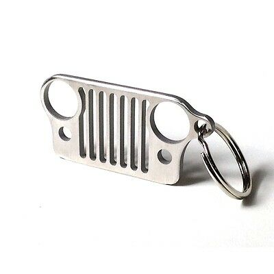 Jeep Keyring NEW 2D Grill Jeep Wrangler Renegade 4X4 UK  STOCK  FAST JEEP —A10