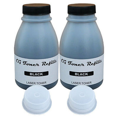 2 Toner Refills (200g) for Brother TN-420 TN-450 HL2240 HL2270 with Hopper Caps