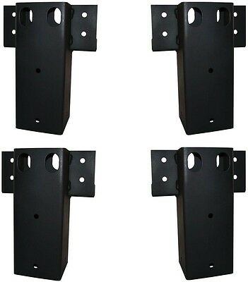 4 X 4 Straight Brackets 4 Set Elevates Erectors Steel Risers Raise Lift Sturdy