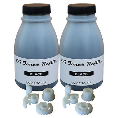 2 Toner Refill (200g) Brother TN-330 TN-360 HL2140 HL2170W 2 Reset Gear