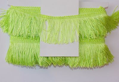 "1m 2.5"" 6cm drop Tassel Fringe / Fringing Trim lace trimming neon green lime"