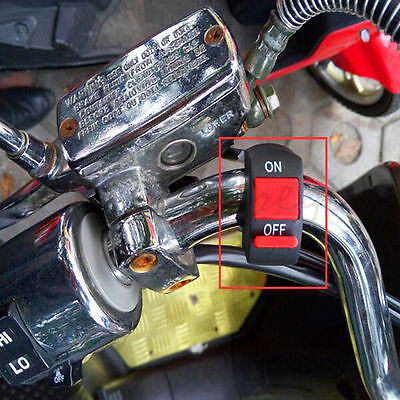 "7/8"" Motorcycle ATV Handlebar Headlight Fog Spot Light ON-OFF Kill Switch Button"