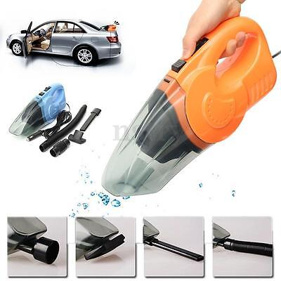 DC 12V 120W Portable Bagless Handheld Wet/Dry Auto Car Vacuum Dust Dirt Cleaner