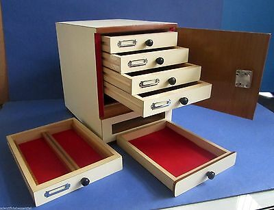 New Wooden Microscope prepared slide Storage Cabinet for 500 Slides - KAYCO