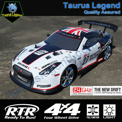 4WD RC Drift Racing Car On Road 1/10 Remote Control 2.4GHz Drifter Nissan GTR