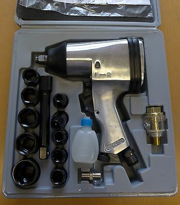 "Thorite Diamond 1/2"" Single Hammer Air Impact Wrench Kit DT7808WR"