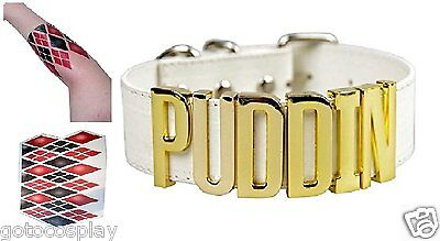 Harley Quinn Choker Suicide Squad Puddin Neck Collar Necklace with Arm Tattoo