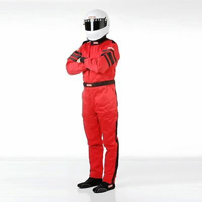 RaceQuip 120017 SFI-5 Multi-Layer Racing Suit, Red. Size 2XL