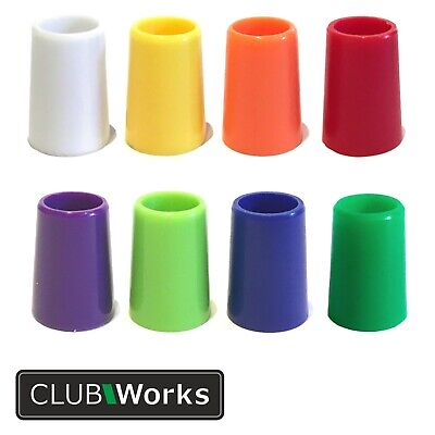 "Golf club ferrules - 7 colours - For .370"" tip irons - Length 20mm x Dia 13.8mm"