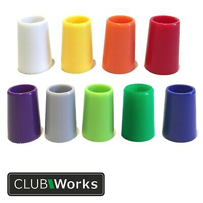 "Golf club ferrules - 8 colours - For .355"" tip irons - Length 20mm x Dia 13.8mm"