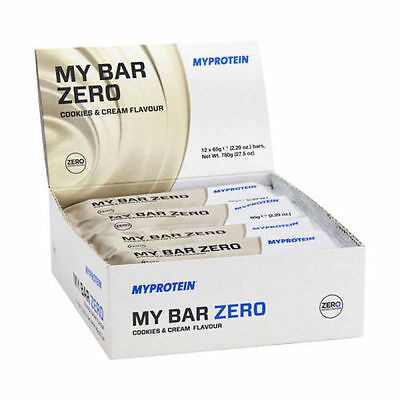 MyProtein MyBar Zero - Box Of 12 X 65g High Protein Bar - 20g Protein Per Bar