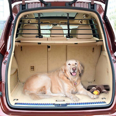 Deluxe Pet Dog Guard Adjustable Safety Fence Universal Barrier Estate Car Black