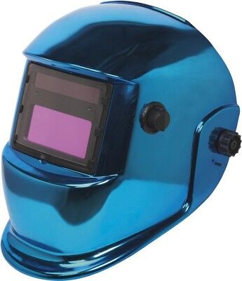 Sealey Professional Welding Helmet Blue | Auto Darkening Shade Protective Mask