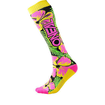 Oneal Pro MX Island Motocross Socks Off Road Quad Thick Knit Knee-High One Size