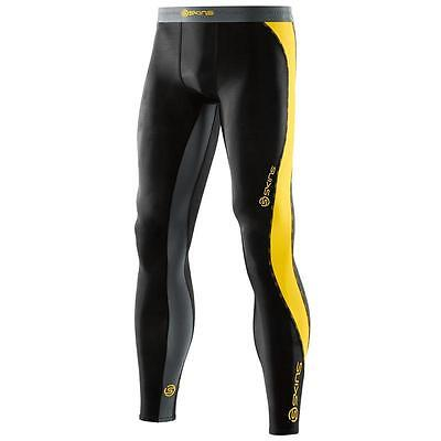 Skins Men's DNAmic Compression Long Tight: Black/Yellow