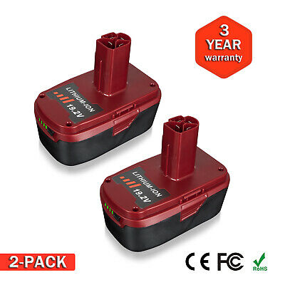 2Pack 19.2V Li-ion Battery for Craftsman C3 11376 11375 PP2025 130211004 XCP US