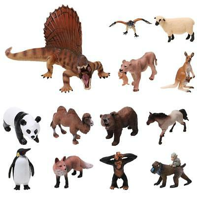 Realistic Plastic Wild/Zoo/Farm Animal Dinosaur Model Figurine Toy Collectibles