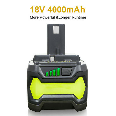 New 4.0Ah 18V Volt Lithium Ion Battery for Ryobi 18V P108 P500 RB18L40 BPL18151