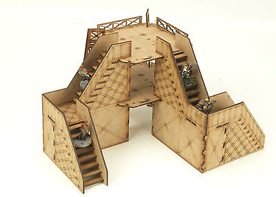 Warhammer 40K Necromunda Scenery Tower with Etched Stairs Industrial Terrain A