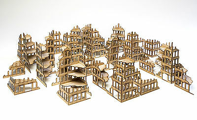 Wargames scenery 32 Ruined Buildings Warhammer 40K 28mm Bolt Action Terrain