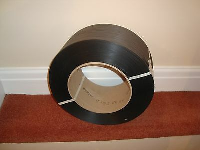 3000m Heavy Black Strapping Banding 12mm width  2 rolls