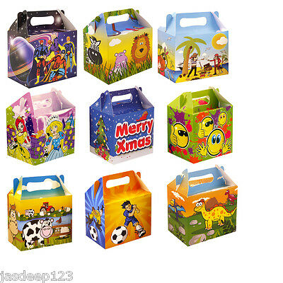 Childrens Fun Themed Party Lunch Boxes Takeaway Boxes Birthday Wedding Food Box