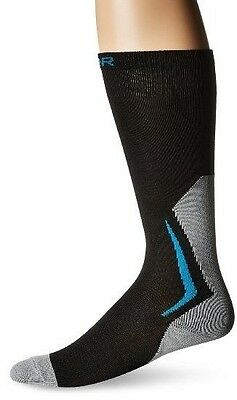 New Bauer Hockey Core Performance Tall Compression Ice Skate Socks Black/Grey
