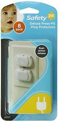Safety 1st Deluxe Press Fit Outlet Plugs, 8 Count New