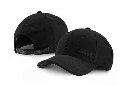 BMW Genuine M Collection Logo Mens Womens Six Panel Cap Hat Black 80162410914