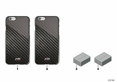BMW Genuine M Collection Mobile Phone iPhone 6 Hard Shell Case Cover 80212413761