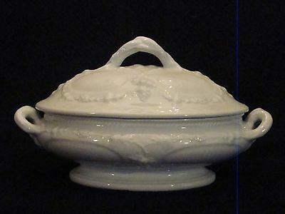 E. & C. Challinor Vintage Shape White Ironstone Oval Tureen & Cover 1862-90